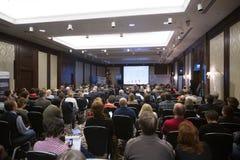 II årlig internationell konferens av ledarna och de ledande specialisterna av massmedia Royaltyfria Bilder