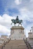 团结的意大利的第一位国王,胜者伊曼纽尔II 图库摄影