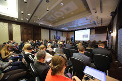 II Conférence Internationale d'annuaire des chefs et des principaux spécialistes Photos libres de droits