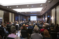 II Conférence Internationale d'annuaire des chefs et des principaux spécialistes du media Images libres de droits