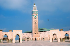 II. Hassan Mosque, Casablanca, Morocco Royalty Free Stock Photo