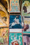 Фрески - езды короля Владислава II Jagiello Ангел дает крону стоковые изображения