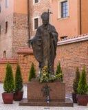 ii John Paul pope statua Zdjęcie Stock