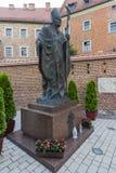 ii John Paul pope statua Fotografia Stock