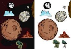 ii księżyc set Obrazy Royalty Free