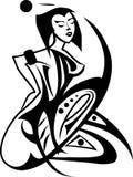 II preto e branco ilustração royalty free
