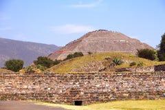 太阳金字塔II, teotihuacan 免版税库存照片