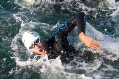 II Triathlon LD Valencia, Spanien. Lizenzfreies Stockfoto