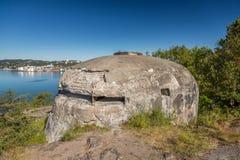 II WW-bunker arkivfoton