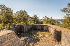 II WW Bunker. II World War Abandoned Bunker in Kristiansand, Norway Royalty Free Stock Photo