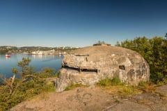 II WW Bunker. II World War Abandoned Bunker in Kristiansand, Norway Stock Photography