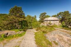 II WW Bunker. II World War Abandoned Bunker in Kristiansand, Norway Stock Images