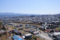 Iida city and Southern Japan Alps Stock Photo