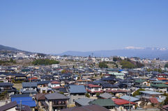 Iida city and Southern Japan Alps Royalty Free Stock Photography