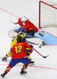 IIHF 2018 παγκόσμιο πρωτάθλημα Div 1B χόκεϋ U18 πάγου στοκ εικόνες