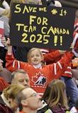 IIHF-het Kampioenschap van de het Ijshockeywereld van Vrouwen Stock Foto