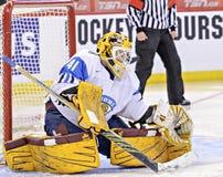 IIHF-het Kampioenschap van de het Ijshockeywereld van Vrouwen - de Gelijke van de Bronsmedaille - Rusland v Finland Royalty-vrije Stock Fotografie
