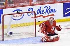 IIHF-het Kampioenschap van de het Ijshockeywereld van Vrouwen - Gouden Medaillegelijke - Canada v de V.S. Stock Afbeeldingen