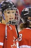 IIHF kobiet Lodowego hokeja Światowy mistrzostwo Kanada v usa - złotego medalu dopasowanie - zdjęcie stock