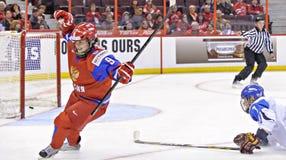 IIHF kobiet Lodowego hokeja Światowy mistrzostwo Rosja v Finlandia - brązowego medalu dopasowanie - zdjęcia royalty free