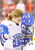 IIHF kobiet Lodowego hokeja Światowy mistrzostwo Rosja v Finlandia - brązowego medalu dopasowanie - zdjęcia stock