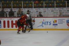 2017 IIHF LODOWEGO hokeja ŚWIATOWY mistrzostwo - Australia vs Belgia Obraz Royalty Free