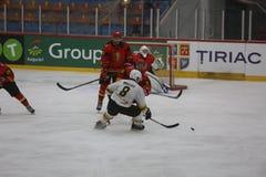 2017 IIHF LODOWEGO hokeja ŚWIATOWY mistrzostwo - Australia vs Belgia Fotografia Stock
