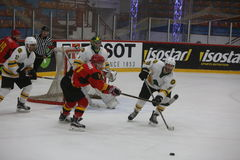 2017 IIHF LODOWEGO hokeja ŚWIATOWY mistrzostwo - Australia vs Belgia Zdjęcie Royalty Free