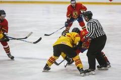 2017 IIHF LODOWEGO hokeja ŚWIATOWY mistrzostwo - Rumunia vs Hiszpania Obrazy Royalty Free