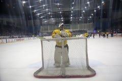 2017 IIHF LODOWEGO hokeja ŚWIATOWY mistrzostwo - Rumunia vs Hiszpania Zdjęcie Stock