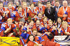 IIHF Women's Ice Hockey World Championship - Bronze Medal Match - Russia v Finland Royalty Free Stock Image