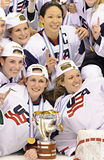 IIHF Women's Ice Hockey World Championship - Gold Medal Match - Canada v USA Stock Image