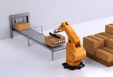 III di trasporto con palette robot Immagine Stock