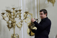 III International festival of French horn in St. Petersburg, Russia Stock Photo