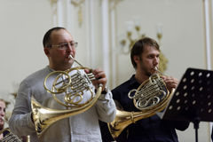 III International festival of French horn in St. Petersburg, Russia Royalty Free Stock Image