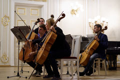 III International festival of French horn in St. Petersburg, Russia Royalty Free Stock Images