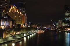iii miasta Melbourne noc Obrazy Stock