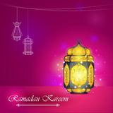 Iilluminated lamp for Ramadan Kareem Happy  background Royalty Free Stock Photo