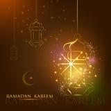 Iilluminated lamp for Ramadan Kareem Happy  background Stock Images