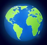 Iillustration avec la terre de planète sur le fond foncé illustration libre de droits