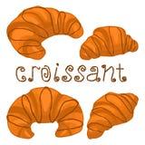 IIllustration logo for fresh French croissant stock illustration