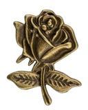 Iin afiligranado la forma de una flor de la rosa, elemento decorativo para m Imagenes de archivo