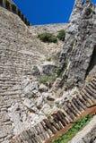 Iin der Hof von Festungen Guaita auf Berg-Titanen Lizenzfreie Stockbilder