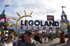 Iin Legoland del visitante en el billund Dinamarca Imagenes de archivo