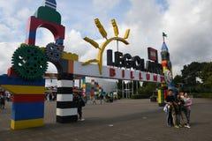 Iin Legoland del visitante en el billund Dinamarca Foto de archivo