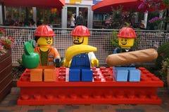 Iin Legoland do visitante no billund Dinamarca fotografia de stock royalty free