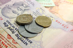 Iindian monety i rupie Fotografia Royalty Free