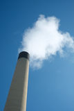 Iindustrial chimney with smoke pollution Stock Photo