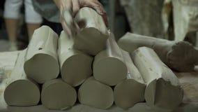 IIndustrialproductie van Porseleinvaatwerk 3 stock video