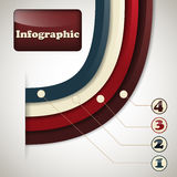 Iinfographic Template Royalty Free Stock Photography
